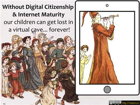 A poster graphic explaining aspects of Digital Citizenship and Internet Maturity