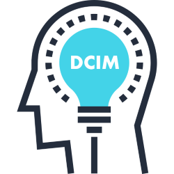 DCIM shown as a bulb in the head. Digital Citizenship is a mindset.