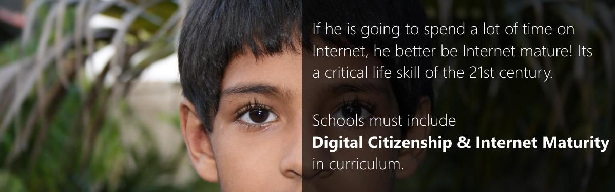 Digital Citizenship and Internet Maturity in Schools of India - Project Banner image